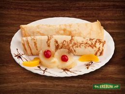Pancakes with pineapples (2 pcs)