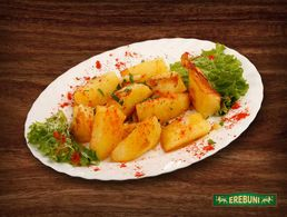 Cooked, fried potatoes